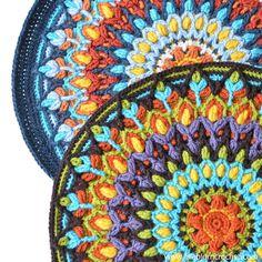 Spanish Mandala. Overlay #crochet pattern by Lilla Bjorn Crochet