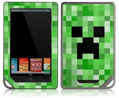 Nook Color Cover | Minecraft Creeper Decal Skin Case Cover