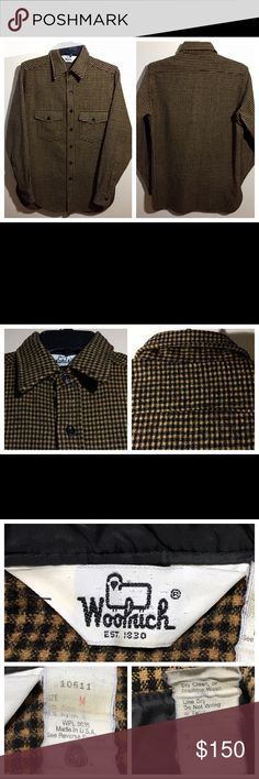 a186dd8da4c16 VTG 60s Woolrich Buffalo Plaid Field Shirt Jacket Excellent condition.  Vintage 1960s Woolrich Brown and