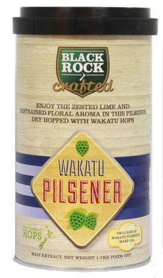 Black Rock Crafted Wakatu Pilsner  Manufacturata folosind 100% malt lager din Noua Zeelanda, cu o selectie de hamei din Noua Zeelanda pentru amareala moderata. Hameiul Wakatu este adaugat la final pentru o aroma florala subtila si de citrice, dand posibilitatea sa fie infuzat in extractul de malt si sa dea un gust si o aroma unice berii.  Ingrediente: Malt – Lager Hamei – Green Bullet, Pacific Gem, Wakatu Apa pura din Noua Zeelanda Drojdie premium sub capac.