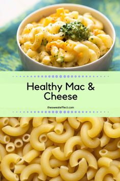 Need some cheesy noodle goodness? I have you covered with my easy, healthy mac and cheese! Broccoli And Cheese, Macaroni And Cheese, Mac Cheese, Healthy Nutrition, How To Cook Pasta, Noodles, Cravings, Veggies, Creamy Cheese