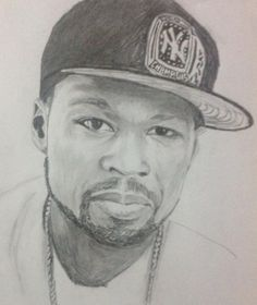 Portrait of 50 Cent by on Stars Portraits, the biggest online gallery for celebrity portraits. Pencil Drawings, Art Drawings, 50 Cent, Celebrity Portraits, Online Gallery, Eminem, Black Art, Barber Shop, Drawing Ideas