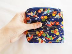 Coin Purse Japanese Cotton  Kimono Fabric  by EmpyreanArtistry