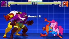 Spider-Man And Pinkie Pie VS Parasite And Sabretooth In A MUGEN Match / Battle / Fight This video showcases Gameplay of Spider-Man The Superhero And Pinkie Pie From The My Little Pony Friendship Is Magic Series VS Parasite The Supervillian And Sabretooth In A MUGEN Match / Battle / Fight