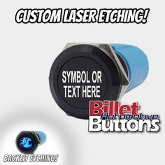 19mm 'CUSTOM LASER ETCHING' Design Your Own Billet Push Button Switch Car Audio Installation, Types Of Buttons, Bold Fonts, Black N White Images, Alfa Romeo, Transportation Design, Colour Images, Design Your Own