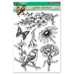 Penny Black Clear Stamp Set-Garden Charmers