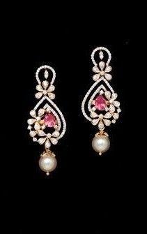 Diamond Jewellery, Diamond Earrings, Pearl Earrings, Drop Earrings, Black Blouse Designs, My Favorite Things, Outfit Ideas, Chokers, Diamonds