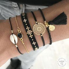 Bracelet set black | www.mint15.nl