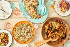 5 Fresh Salads for Your Next Party, Potluck, or Backyard BBQ — Quick and Easy Weeknight Dinners Salad Recipes For Dinner, Healthy Salad Recipes, Potluck Recipes, Healthy Eats, 21 Day Fix, Summer Recipes, Great Recipes, Favorite Recipes, Holiday Recipes