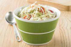 Creamy Caesar Coleslaw recipe Healthy Coleslaw Recipes, Bean Salad Recipes, Veggie Recipes, Healthy Salads, Kraft Recipes, Salad Bar, Soup And Salad, Potluck Side Dishes, Classic Caesar Salad