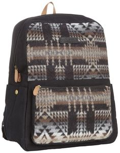 Pendleton Men's Backpack, Black Pagosa Springs, One Size Pendleton. $36.25. Wool fabric woven in the usa.. One main pocket with small zip pocket on front.. 100% Wool Exclusive Of Lining and Trim. Hand Wash. Made in China. Save 72%!