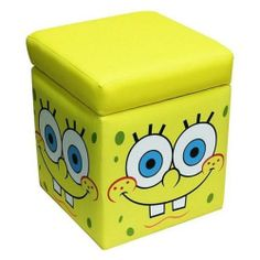Spongebob Storage Ottoman Vesitile Storage, Seat Or Ottoman Cleans Easily  With Mild Soap And Water Coordinating Furniture Items Such As A Toy Box,  Recliner, ...