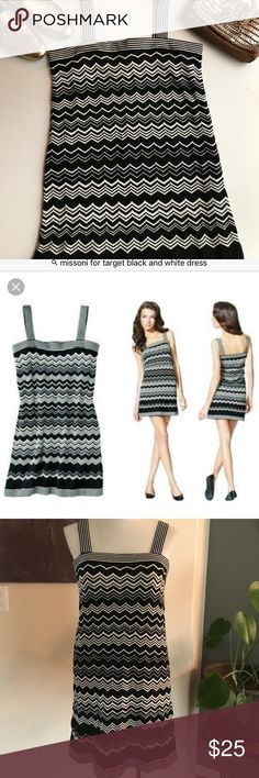 Missoni for Target Black and White Dress Fully lined. Worn once. Excellent condition! Acrylic blend. Size M Missoni Dresses Mini