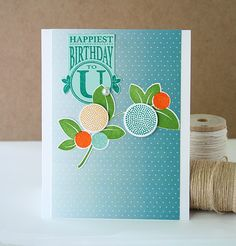 Happiest Birthday Card by Danielle Flanders for Papertrey Ink (August 2015)