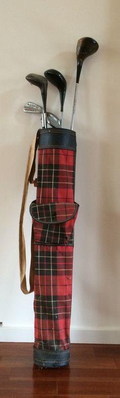 Vintage Sunday golf carry bag.