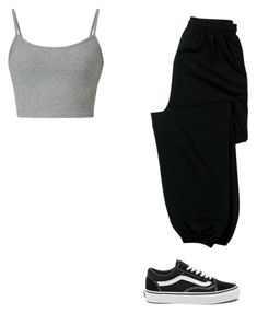 """Untitled #158"" by alessiacaravetta on Polyvore featuring Gildan and Vans"