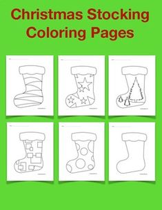 Christmas Stocking Coloring Pages. Christmas Printable Activities, Kindergarten Activities, Christmas Stockings, Coloring Pages, Holidays, Free, Needlepoint Christmas Stockings, Quote Coloring Pages, Pre K