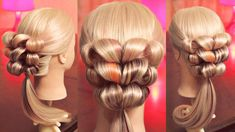 Оформление хвоста - причёска на резинках