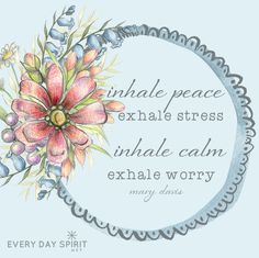 Today is our day to release stress in favor of peace. Find some easy ways to step away to stillness and center the soul. xo For more inspiration visit ~ www.everydayspirit.net xo #calm #peace #meditation