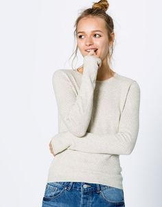 Fine basic jumper - Basics - Clothing - Woman - PULL&BEAR Hungary