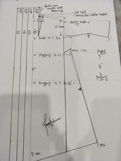 No automatic alt text available. Thank You Friend, Kebaya, Sewing Techniques, Chart, Kebaya Muslim