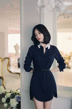 Korean Fashion Chic Professional Elegant Feminine Outfit: