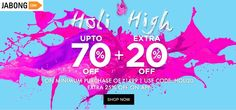 Holi High Upto 70% + Extra 20% Off On Minimum Purchase Of Rs.1,499/- Shop Now @ http://goosedeals.com/home/details/jabong/134506.html