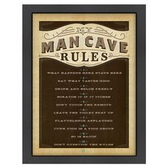 Add a handsome touch to your game room or home bar with this eye-catching framed print, showcasing a stately typographic motif.   P...