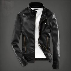 >> Click to Buy << T china cheap wholesale 2016 spring Autumn new youth popular men slim stand collar fashion casual male cool pu leather jacket #Affiliate