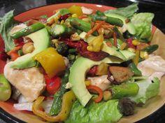 chicken salads with veggies   GRILLED VEGGIE AND CHICKEN (OR NOT) SALAD   TAMARA LEIGH: The Kitchen ...