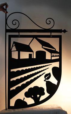 shop sign Versboerderij