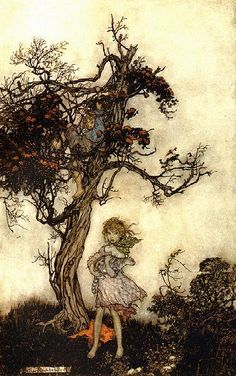 Arthur Rackham the detail is what gets me.  The trees are fantastic.