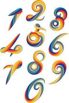Numerology by Jenue Type Image Art