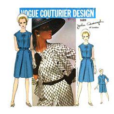1960s John Cavanagh Vogue Couturier 1689 Dress by CynicalGirl, $62.00