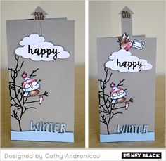 Interactive Gift Tags | PDF Tutorial Penny Black (tags, interactive)