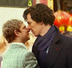 lol ok I've heard that Martin and Ben are angry about the Johnlock stuff?  Well then they should avoid this kind of situation, don't you think?  lol they must be over it.