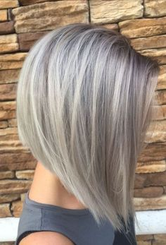 Gray Silver Hair Colors for Bob Short Hairstyles 2018