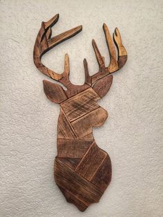 Teds Wood Working - Deer head made from reclaimed wooden pallets deer hunting wall decor man cave gift - Get A Lifetime Of Project Ideas & Inspiration!