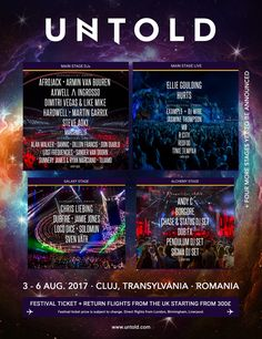 Romania's Untold Festival first acts...: Romania's biggest festival UNTOLD (August 3-6 in Cluj-Napoca) keeps getting bigger and better with…