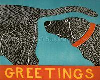 Stephen Huneck Giclee Print 'Greetings'