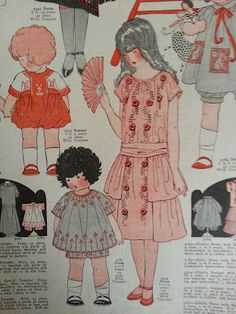 McCall's Children's fashions 1920's