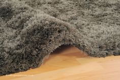 Revival Oakwood Rug (texture close up), a soft & heavyweight round shaggy rug made of fine soft polyester yarns (colour: taupe, hand-tufted, 100% polyester) http://www.therugswarehouse.co.uk/round-rugs/revival-circle-rugs/revival-oakwood-circle-rug.html #rugs #shaggyrugs