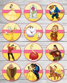 Beauty and the Beast Cupcake Toppers Chevron / Beauty & the Beast Birthday Party / Belle Birthday Party Favors / Belle Cupcake Toppers Adesivo Bela [. Beauty And Beast Wedding, Beauty And The Beast Party, Belle Beauty And The Beast, Beauty Beast, Belle Birthday Cake, Birthday Party Favors, Beauty And The Beast Cupcakes, Beauty And The Beast Silhouette, Princess Belle Party