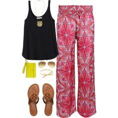 Palazzo Pants and cute sandals mom fashion #babywearingfashion to Boba Carrier Soho Styel board!
