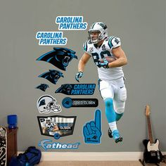 Fathead Carolina Panthers Greg Olsen Wall Graphic - Wall Sticker Outlet