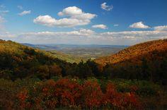 Skyline Drive Scenery in Shenandoah National Park VA, part of the Appalachian Mountains