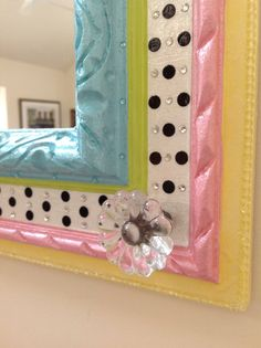 Whimsical Hand Painted Mirror in Pastels by sharonmooradian, $125.00