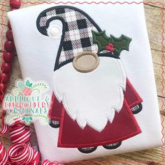 2178 Christmas Gnome All-In-One Applique Design - Applique & Embroidery Originals Machine Applique Designs, Machine Embroidery Projects, Applique Embroidery Designs, Machine Embroidery Applique, Applique Patterns, Applique Templates, Christmas Applique, Christmas Sewing, Christmas Embroidery