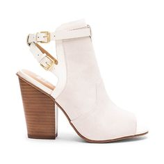 Joe's Jeans Ghost II Heel (200 AUD) ❤ liked on Polyvore featuring shoes, pumps, heels, suede leather shoes, ankle strap pumps, high heel shoes, ankle wrap pumps and double buckle shoes
