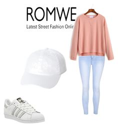 """""""Romwe competition"""" by oxxoxkisses-1 ❤ liked on Polyvore featuring Glamorous, adidas and Swell"""